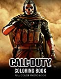 Call of Duty Coloring Book: War Theme Video Game Illustration Coloring Book For Fans Adults Stress Relief 8.5 X 11' 20 Unique Fantasy Coloring Pages ... Black Line Art Relaxing Gift for Adults Kids
