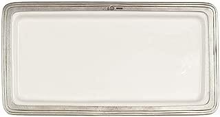 Arte Italica Tuscan Rectangular Tray, Medium, White