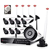 8 Channel Wireless Security Camera System NVR...