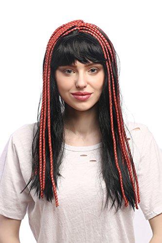 WIG ME UP- 60327-P103 Peluca seora Carnaval Cleopatra cortesana Harem 20s Glamour 1001 Noches Flequillo Negro
