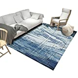 JUANstore Teppich Im Vintage-Stil Mit Abstraktem Muster Gewebter Boden-Soft-Touch-Stapel Wohnkultur...