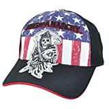 Sons Of Anarchy Reaper Logo Patch Fitted Gorra de Bisbol Hat