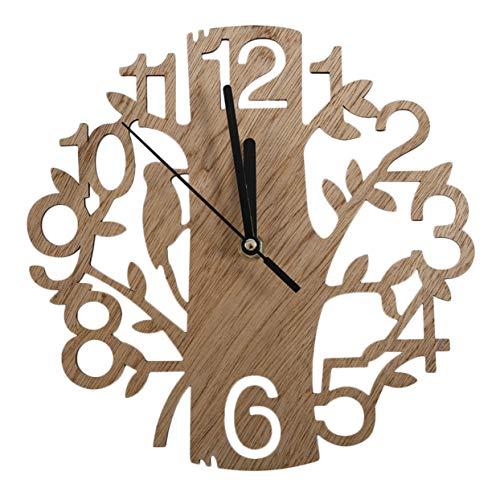 Tree-on-Life Modern Wood Vintage Design Orologio da Parete Fashion Style Home Soggiorno Coffee Shop Chic Bar personalità Quiet Clock Square Shape