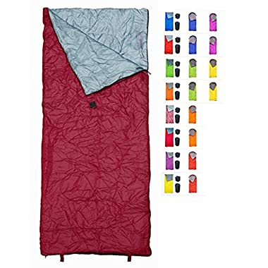 REVALCAMP Sleeping Bag Indoor & Outdoor Use. Great for Kids, Boys, Girls, Teens & Adults. Ultralight and Compact Bags are Perfect for Hiking, Backpacking & Camping (Bordeaux)