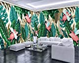 3D Silk Mural HD Picture Tropical rain Forest Plant Cartoon Pig Wallpaper Waterproof Living Room Bedroom TV Wall Restaurant Home Decoration Painting 430×300cm