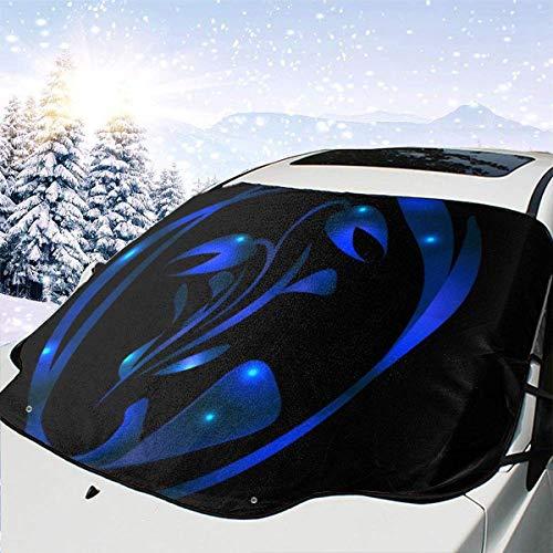 Wohenhao Metallic Tulip in Blue Glare für eine Postkarte 2047 Automotive Windschutzscheibe Schneedecken 57,9 X 46,5 Zoll für LKW Suvs Mpvs Hält EIS & Schnee aus