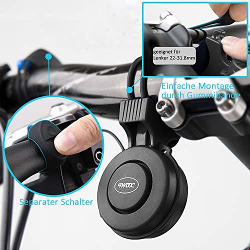 Fahrradklingel USB Wiederaufladbar, wasserdichte Fahrrad bell, Baonuor Elektronisches Lenker Bell Ring für Mountainbike - 4