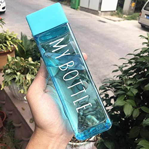 1 Uds 500 ml de plástico transparente mate taza de agua jugo taza fría leche deportes cuerda taza con botella de agua portátil al aire libre-Francia, 401-500 ml, 07