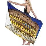 AIMILUX Toalla de Playa,El Coliseo de Noche Roma Italia,Toallas de Baño Toallas de Acampada Piscina Natación Playa Toallas de Mano Ducha Toallas de Mano