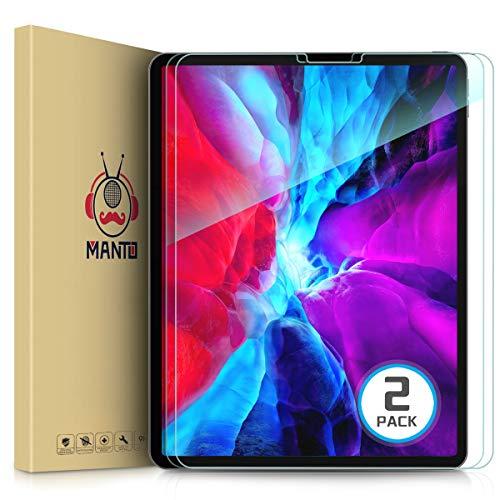 Manto 2 Stück Panzerglas Schutzfolie für iPad Pro 12,9