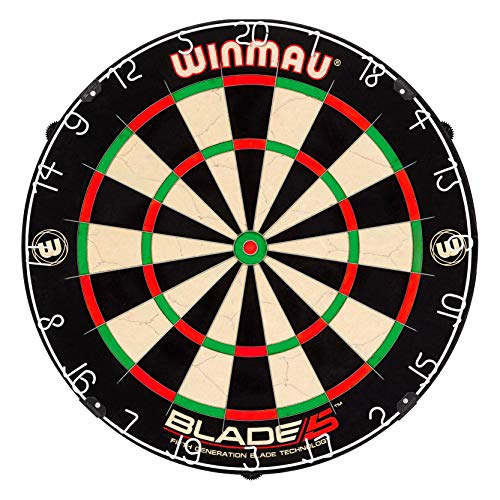 Winmau Blade 5 Bristle Dartboard with All-New Thinner Wiring for Higher Scoring and Reduced...