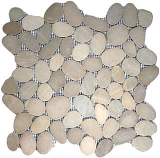 Sliced Java Tan Pebble Tile Sample