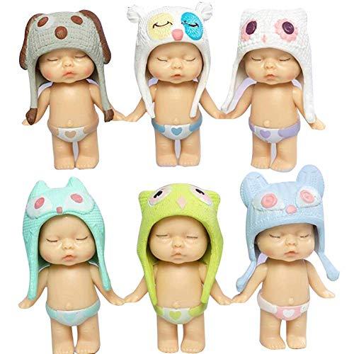 Mooyod 6 Piezas / Juego Dormir Lindo Bebé PVC Boda Decoración Tartas Infantil Cumpleaños Favores de Fiesta Decoración