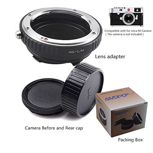 AI-LM - Adattatore per obiettivo per Nikon AI F, compatibile con fotocamere Leica M1, M2, M3, M4, M5, M6, M7, M8, M6TTL, MD, MP,MP2, Epson R-D1, Minolta CL; GXR; RF&35 RF.AI-LM