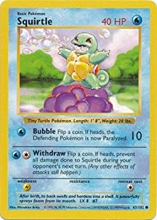 Pokemon - Squirtle - Basic 63/102 - Shadowless
