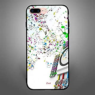 iPhone 7 Plus/ 8 Plus Case Cover Bass Tones, Zoot Printed Hard Back Cover TPU Trendy Modern Design Print with Quality Pain...