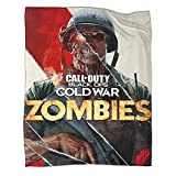 Trelemek Call of Duty Black Ops Cold War Zombies Reisedecke, 150 x 200 cm, leichte gemütliche Flanell-Fleecedecke für Bett, Couch, Sofa, Reisen, Outdoor, Camping, alle Jahreszeiten