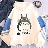 ZRSH 3D Totoro Sudadera con Capucha Moda para Mujer Sudadera con Capucha Pullover Blusa Sólido Flojo Otoño Invierno Manga Larga para Mujer Tops, Cómodo y Cálido,001,M