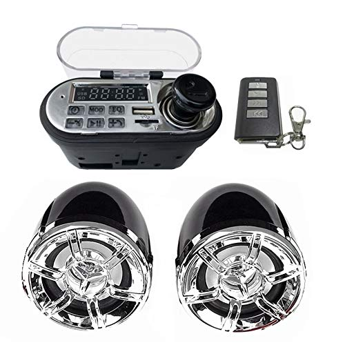 Motorcycle Speakers-Motorcycle o Sound System Stereo Speaker Waterproof Motorbike Scooter FM Radio Bluetooth USB TF MP3 Music Player Kit Best Motorcycle Speakers by NUMIPU