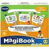 VTech - Livre MagiBook - Mes premiers apprentissages Niveau maternelle - Pack de 3 livres, livres éducatifs - Version FR