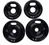 "Kitchen Basics 101 Porcelain Drip Pan Set Replacement for Whirlpool W10288051 : 2 ea 6"" 93169204b and 8'..."