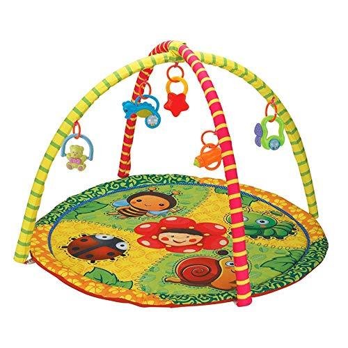 belupai Alfombra de juegos para bebé, gimnasio, gimnasio de juegos, recién nacido, con centro de actividades, música y sonidos, adecuada desde el nacimiento (insecto)