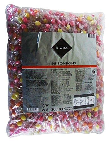 RIOBA Mini Bonbons, 1er Pack (1 x 3kg)
