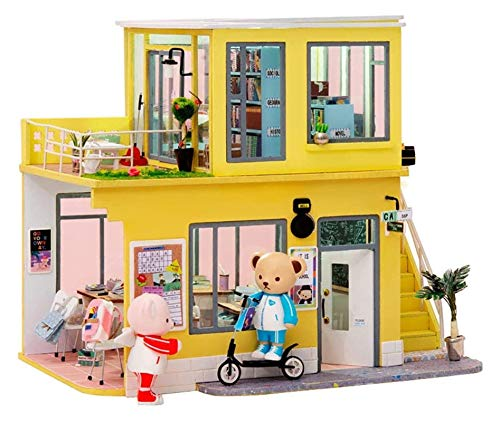 YYQIANG Craft Construction Kit-Wooden Set-Wood Modelo Building Toys-Mini Dollhouse DIY DIY Miniatura House House-Creative Cumpleaños Regalos para Boys Girls Mujeres y Amigos Aficiones Infantiles