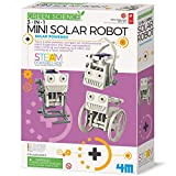 4M 3-in-1 Mini Solar Robot – STEM Toys DIY Green Science Eco-Engineering Building Kit Gift for Kids, Mini Solar Robot 3 in 1