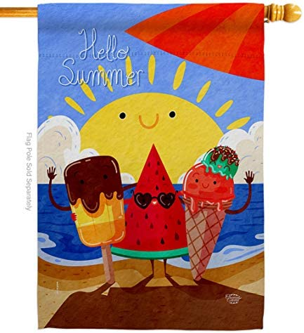 Ornament Collection Fun in The Sun Summer Buddy House Flag Beach Pool Luau Tropical Party Season product image