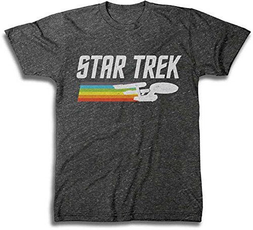 Men's Star Trek Vintage Logo T-Shirt, Charcoal Heather, X-Large