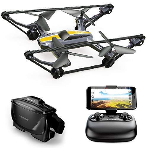 X-TANKCOPTER Hybrid Quadcopter-Tank Drone, HD Camera, Smartphone App, VR Goggles FPV, 2.4GHz
