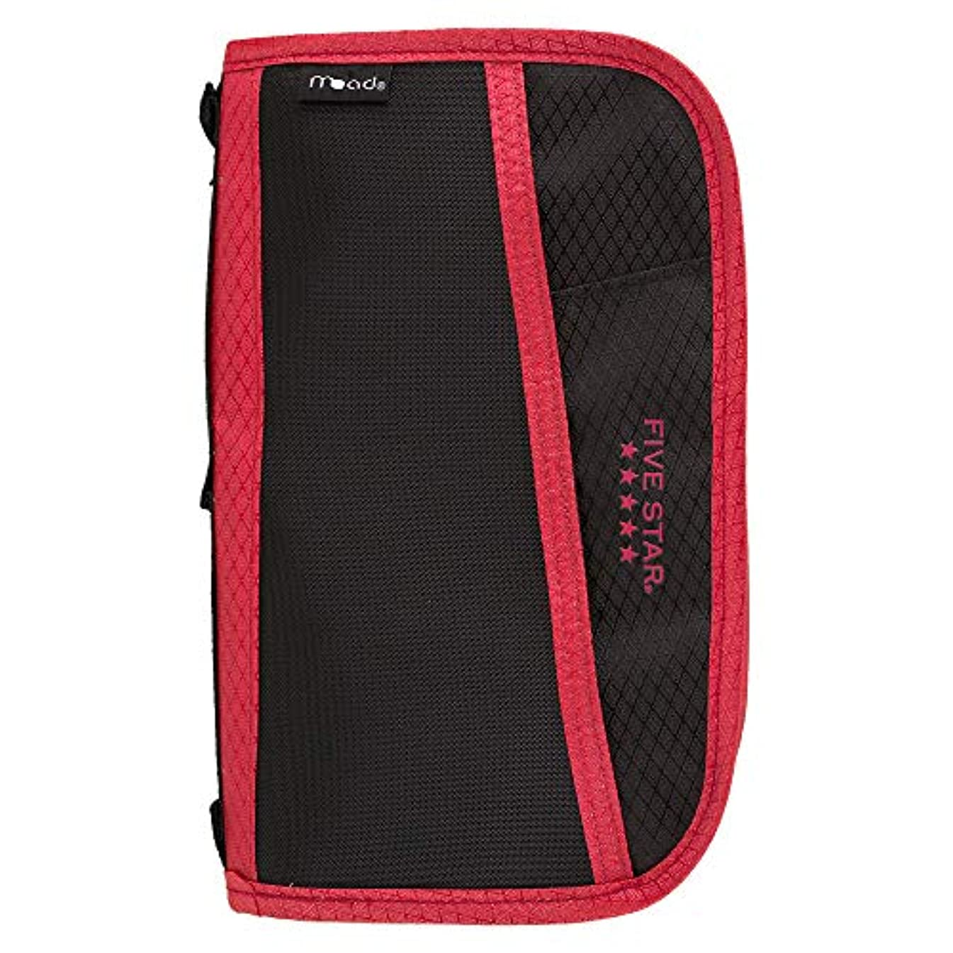 Five Star 3 Ring Binder Multi-Pocket Pencil Pouch - Red (50162)