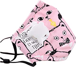 Kids Anti Pollution Cover With Activated Carbon N-95 Filters Dust Cover (Pink)