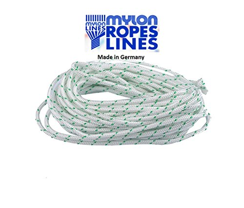 ITACO Made in Germany Mylon 4.5mm Diameter 5meters Starter Rope for 2 Cycle / 4 Cycle Chainsaw String Trimmer Lawnmower