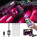 Auto LED Innenbeleuchtung, mit Sound Active Function und APP Control, USB Auto Ladegerät enthalten, DC 5V (USB Ladegerät)