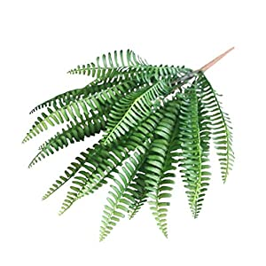 Artificial Fern Bouquet 7 Branches Green Artificial Plant Persian Leaf Silk Flower for Home Living Room Decor