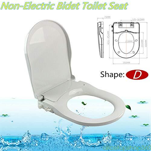 Nicht elektrisches Bidet für die Toilette - Toilettensitz-Bidet mit Doppeldüse , Selbstreinigende Düse Frischwasserspray Mechanischer Bidet-Toilettenaufsatz (Typ D)