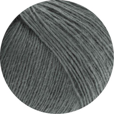 Lana Grossa Lace Seta freie Farbwahl Wolle uni Baby-Alpaka mit Seide (15 - Anthrazit)