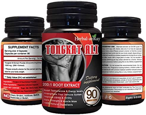 Longjack Tongkat Ali for Men Natural Testosterone Booster for Men Muscle Growth 200 to 1 Extract product image
