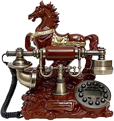 MUZIDP Teléfono decoración Estatua Artista teléfono figurilla clásico Resina imitación Jade Retro teléfono Europeo Pastoral Retro Hotel/casa línea Fija