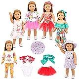 Miunana Ropas Vestidos para 16-18 Pulgadas Muñeca 42-46 cm American Girl Dolls (6 Vestidos)