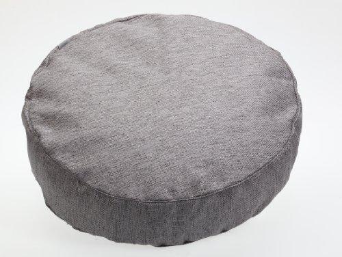 Sauermelk 1304601500186 Lodge vloerkussen rond, 60 x 15 cm, grijs