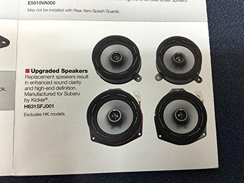 2012-2017 OEM Upgreade Speaker Kit by Kicker Subaru WRX STi Crosstrek Impreza H631SFJ001