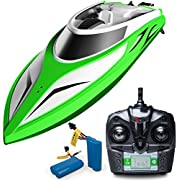 """Force1 RC Boat Pool Toys - Ãâ'¬Å""""Velocity WaveÃâ'¬ï¿½ High Speed Remote Control Boat with Extra Battery + Toy Boat Capsize Recovery for Fast RC Boat Stability"""