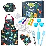 Anpro 27 PCS Kit de Cocina y Horneado para Niños , Juego de Roles para Niños,Chef Set Accesorios de Juego,Regalos para Cumpleaños y Navidad (Verde Oscuro, 3-7 años)