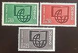 par des Livres Express. Timbre Neuf** de Collection Authentique. France Timbre de Service UNESCO 1966 Nos 36, 37 et 38 Neufs sans charnière.