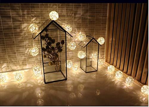 None/Brand Led String 20Led Thai Rattan Ball Lamp String Battery Lamp Wedding Christmas Decoration Easter