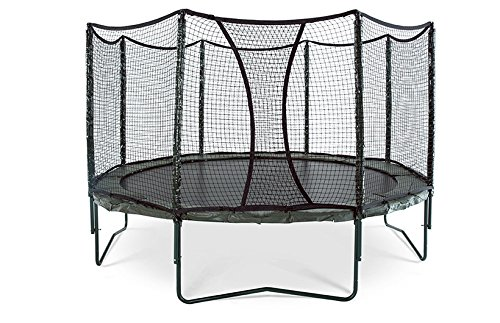 JumpSport AlleyOOP PowerBounce Trampoline with Enclosure | Outstanding Bounce Performance | 50+ Patent & Safety Innovations | 12' and 14 (14')