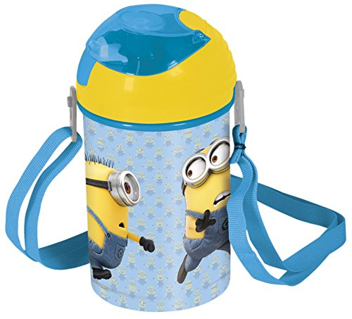 Joy Toy Despicable Me - Minions 776169 - Pop-Up Trinkflasche 450 ml, 7.5 x 7.5 x 15 cm